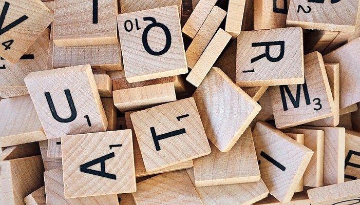 scrabble letters mix