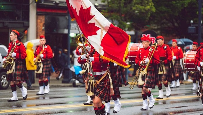 canada marching band flag
